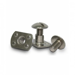 Extra flat stainless steel screw M6 (screw + nut)
