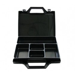 Compartmented plastic box