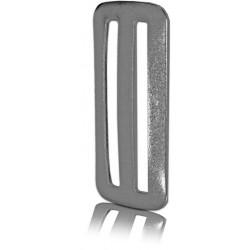 Fermabiombo in acciaio inox per nastri da 50mm