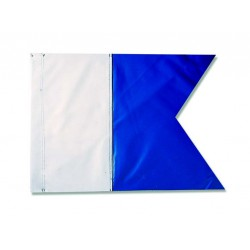 Bandiera Alpha poliestere 20 x 30 cm