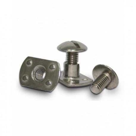 Extra flat stainless steel screw M6 (1screw + 1nut)
