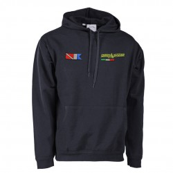 Hoodie with embroidery patch